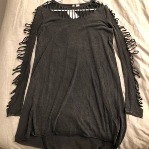 H&M high low hem grey dress
